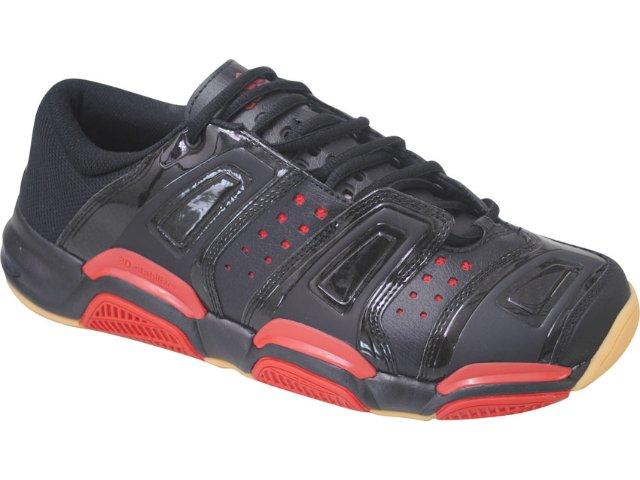 Tênis Masculino Adidas Court Stabil 653505 Preto/vermelho