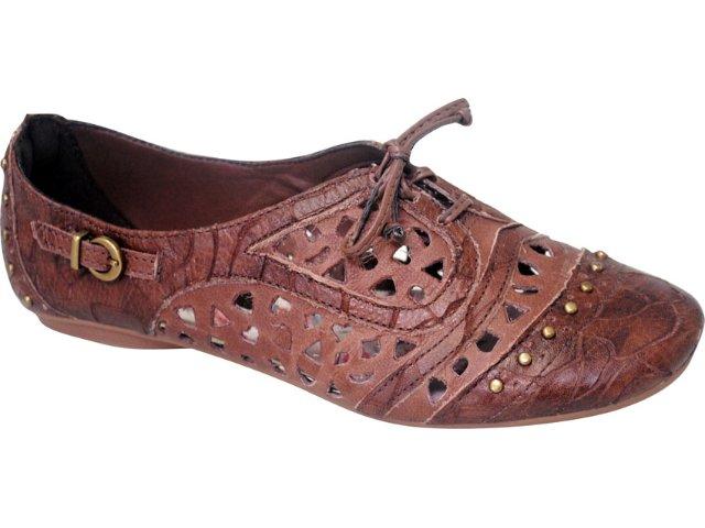 Sapato Feminino Oxford Tanara 2221 Camel