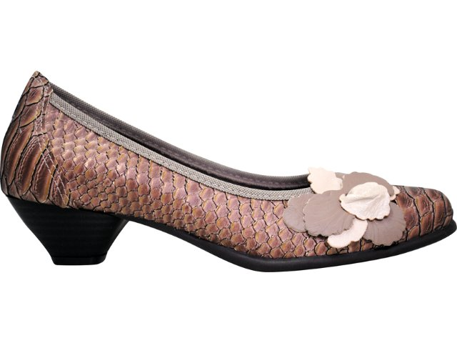 Sapato Feminino Bela Flor 3003 Avelã Peixe