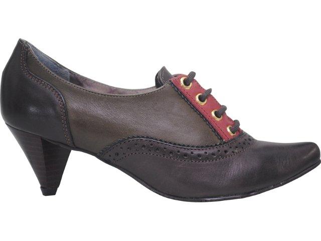 Sapato Feminino Cravo e Canela Oxford 67301/10630 Cravo