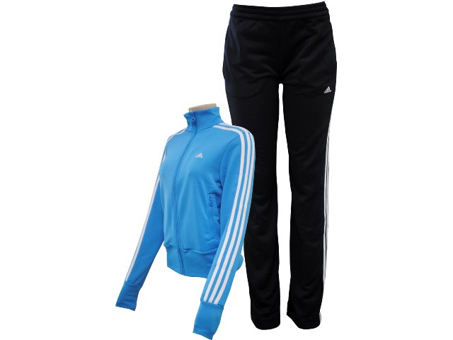 Abrigo Feminino Adidas V35425 Azul/preto