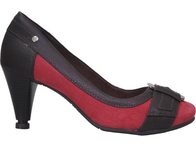Sapato Feminino Dakota 3031 Vinho/café