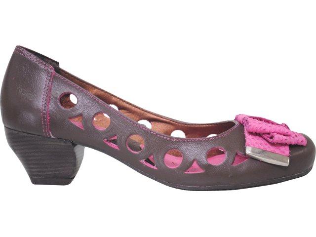 Sapato Feminino Ramarim 116103 Marrom/pink