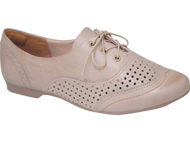 Sapato Feminino Dakota Oxford 3003 Bege