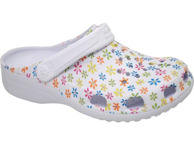 E.v.a Feminina Soft Mania Wedge 020 Estampado Branco