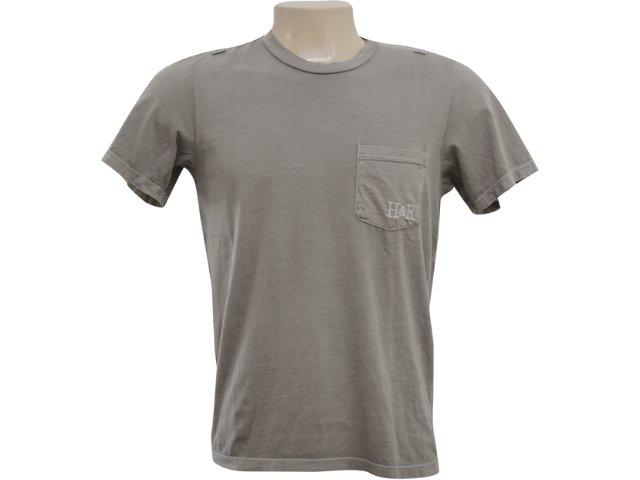 Camiseta Masculina Hering 4c3e Nlj10s Bege