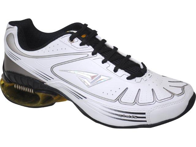 Tênis Masculino Bouts 9201 Bco/prt/amarelo