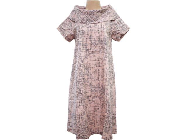 Vestido Feminino Hering Kk66 1bsi Rosa Antigo