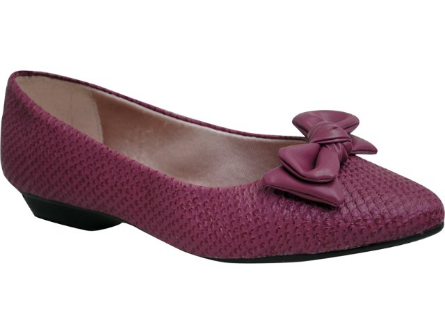 Sapato Feminino Moleca 5118200 Vinho
