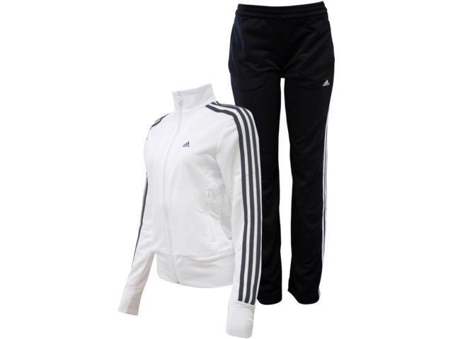 Abrigo Feminino Adidas P90387 Branco/preto