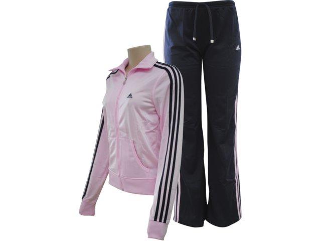 Abrigo Feminino Adidas V35515 Rosa/cinz Aescuro