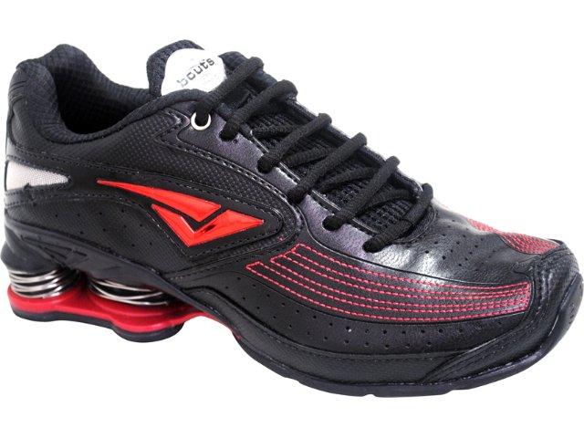Tênis Masculino Bouts 7811 Preto/vermelho
