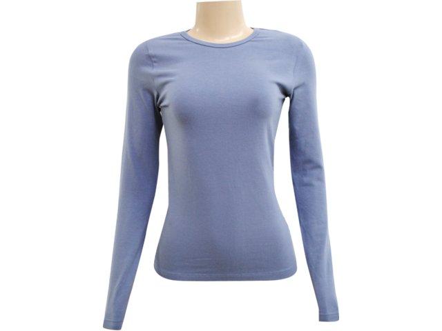 Blusa Feminina Hering 02qy As307s Azul Petróleo