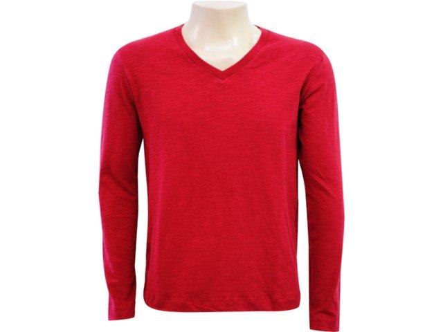 Camiseta Masculina Hering 42jo Rxt07s Vermelho