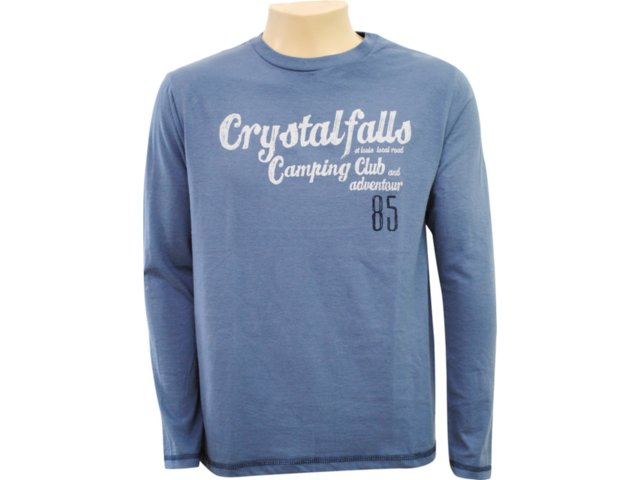 Camiseta Masculina Hering 4c2x As410s Azul Petróleo
