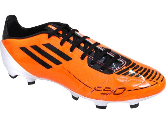 Chuteira Masculina Adidas F10 U41869 Laranja/preto