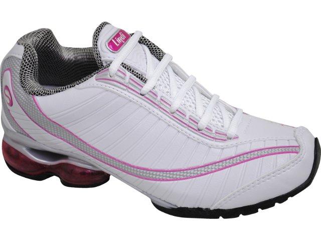 Tênis Feminino Lynd 134 Bco/prta/pink