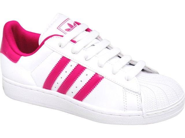 Tênis Feminino Adidas Star G43756 Branco/pink