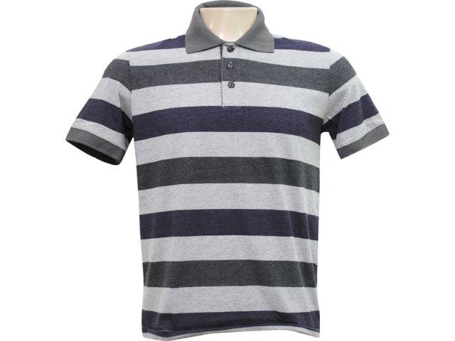 Camiseta Masculina Hering 03gr 2r00s Listrado Preto Cinza