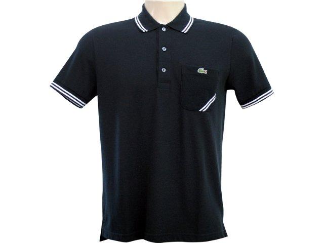 Camiseta Masculina Lacoste ph 292621 Preto