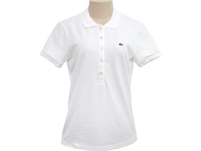 T-shirt Feminino Lacoste pf 169e21 Branco
