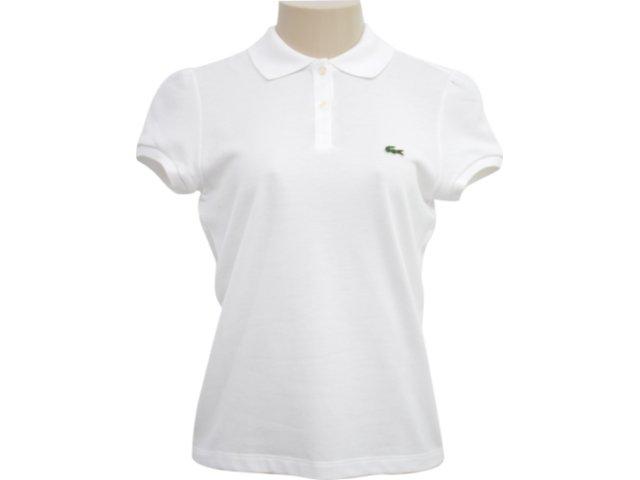 Camiseta Feminina Lacoste pj 293421 Branco