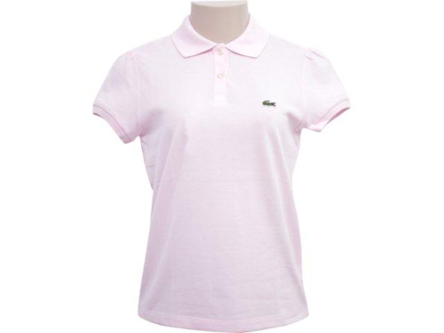 T-shirt Feminino Lacoste pj 293421 Rosa