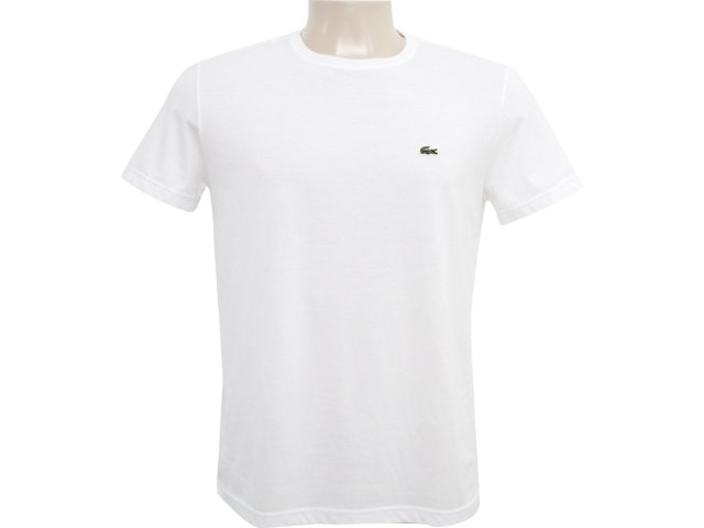 Camiseta Masculina Lacoste Th5275 Branco