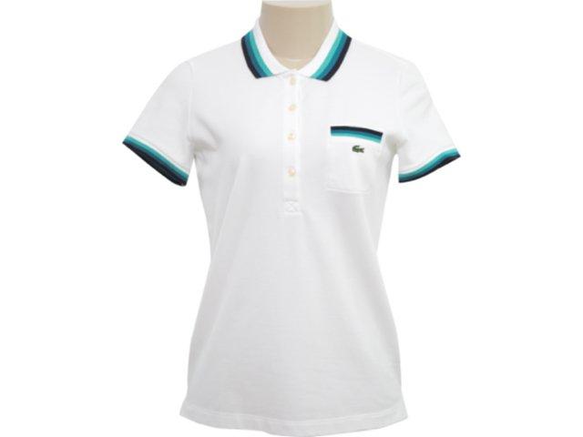 T-shirt Feminino Lacoste pf 291621 Branco
