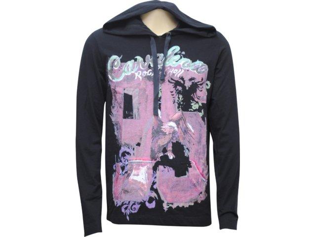 Camiseta Masculina Cavalera Clothing 01.02.0445 Preto