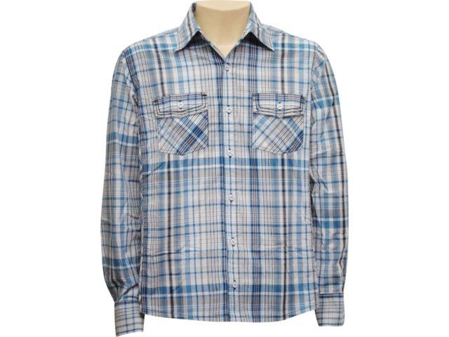 Camisa Masculina dj 01011125 Azul