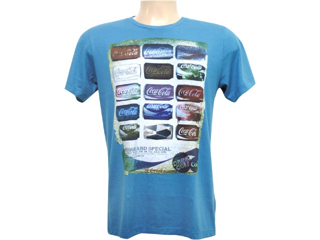 Camiseta Masculina Coca-cola Clothing 353202409 Azul