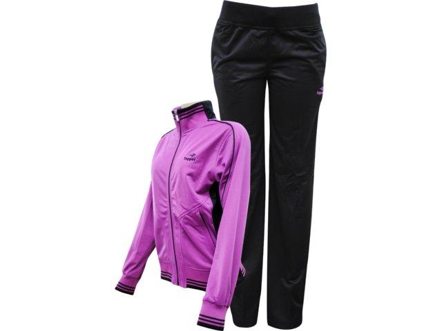 Abrigo Feminino Topper 4120619 Violeta/preto