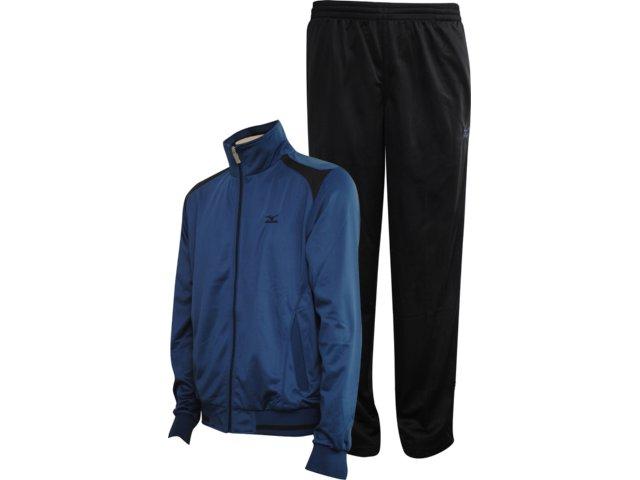Abrigo Masculino Mizuno 4117015 Azul/preto