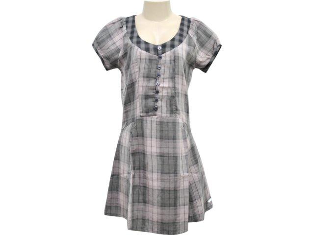 Vestido Feminino Hering Kk63 1asi Xadrez Roxo