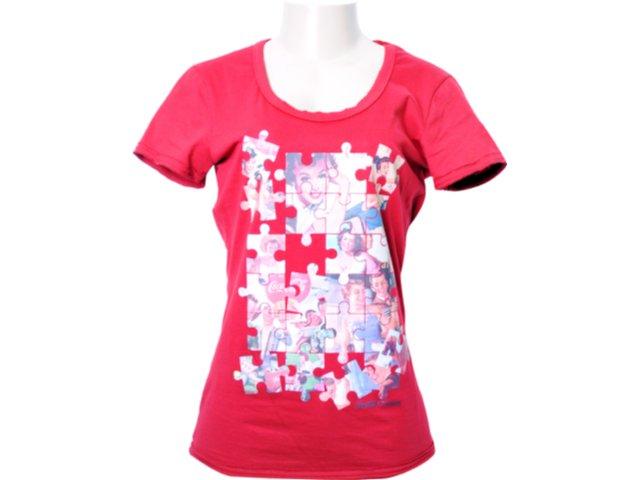 Camiseta Feminina Coca-cola Shoes 343200355 Vermelho