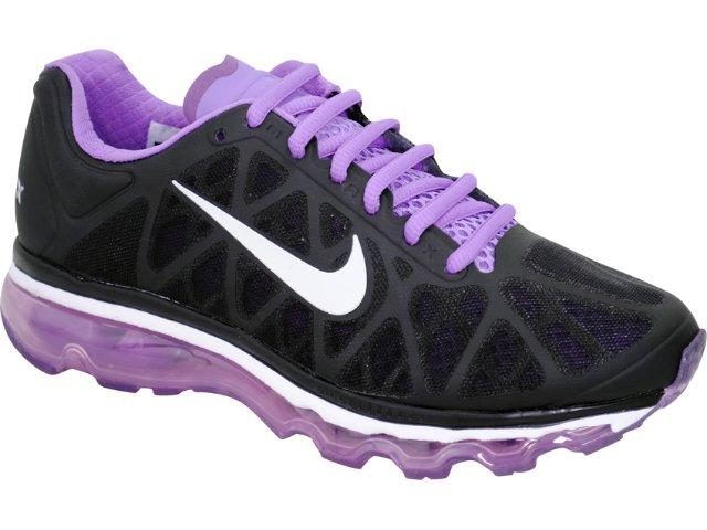 Tênis Feminino Nike Air Max 2011 429890-005 Preto/lilas