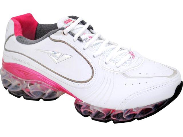 Tênis Feminino Bouts 9502 Bco/chumbo/pink