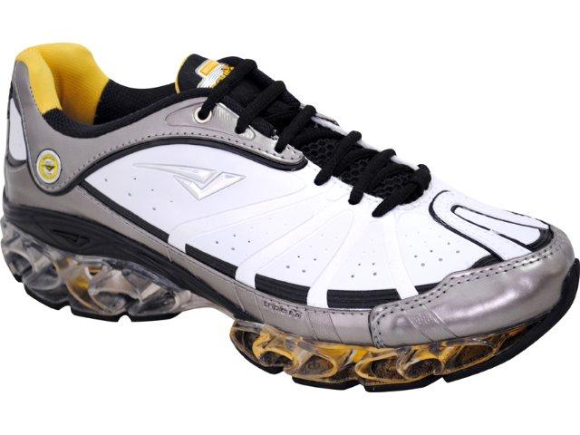 Tênis Masculino Bouts 9501 Bco/chumbo/amarelo