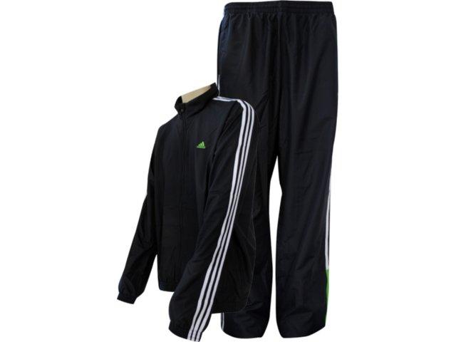 Abrigo Masculino Adidas V38601 Pto/bco/verde