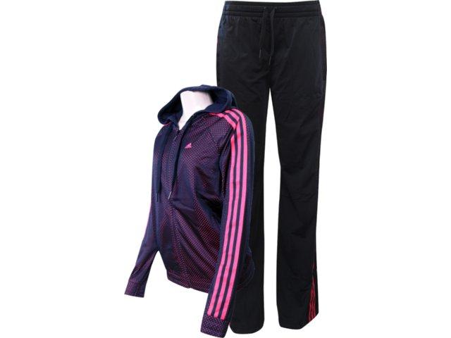 Abrigo Feminino Adidas V35497 Preto/cereja
