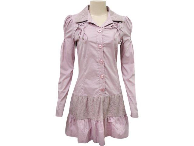 Vestido Feminino Enfase 11135 Rosa