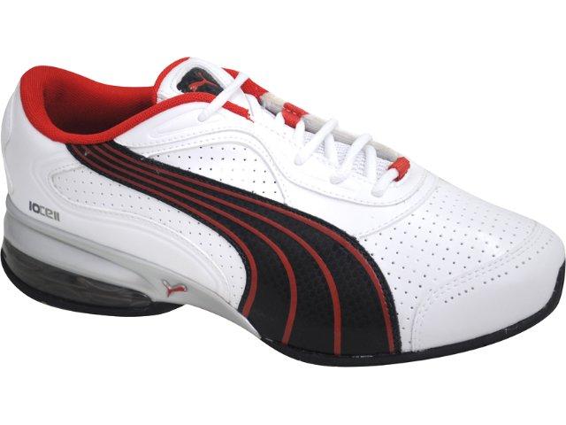 Tênis Masculino Puma 468190 Branco/pt/vermelho