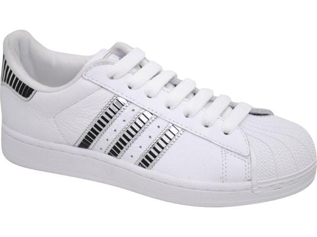 Tênis Feminino Adidas Star G44085 Branco/pto/pta