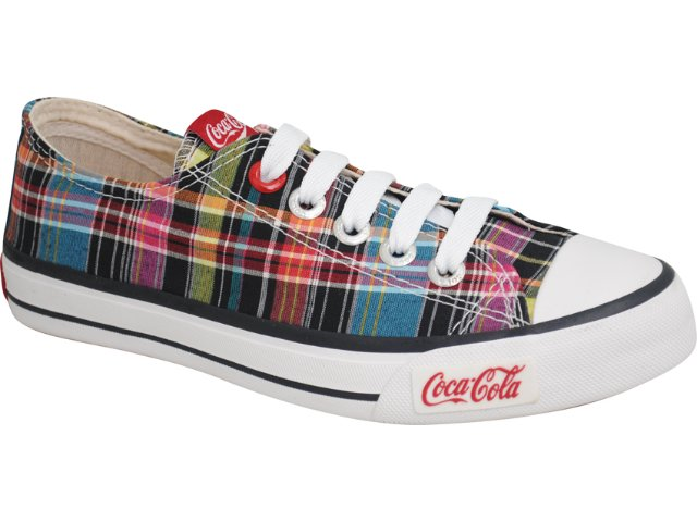 Tênis Feminino Coca-cola Shoes C0620002 Preto Multi