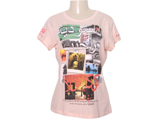 Camiseta Feminina Coca-cola Shoes 343200354 Rosa