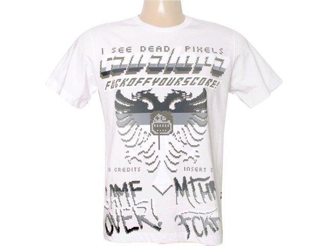 Camiseta Masculina Cavalera Clothing 01.01.5742 Branco