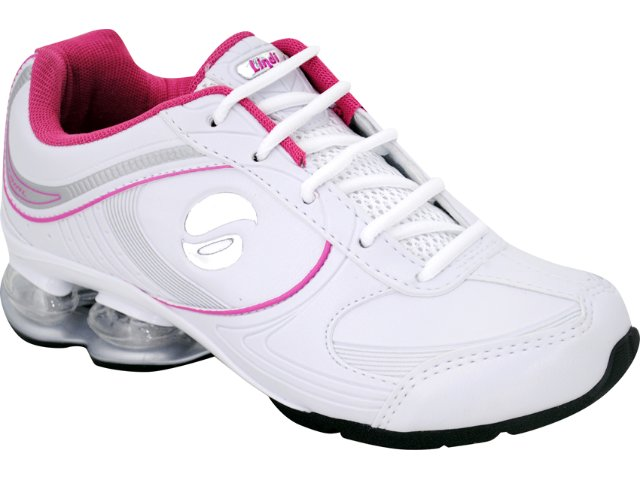 Tênis Feminino Lynd 141 Bco/pta/pink