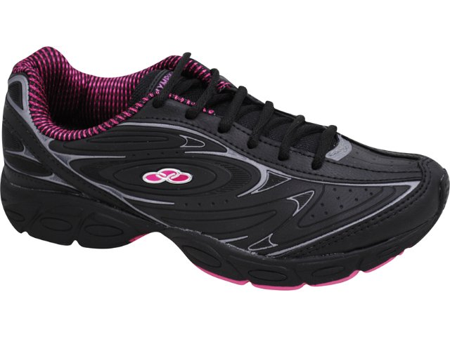 Tênis Feminino Olympikus Beta 639 Preto/pink