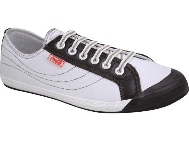 Tênis Masculino Coca-cola Shoes Coca-cola C03005011 Branco/marrom